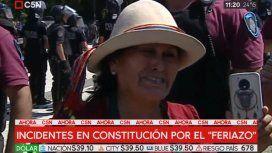 El llanto de una productora en el verdurazo de Constitución: Le sacaron el pan de la boca a mis hijos