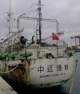Un pesquero chino se hundió en Comodoro Rivadavia tras chocar con un buque español