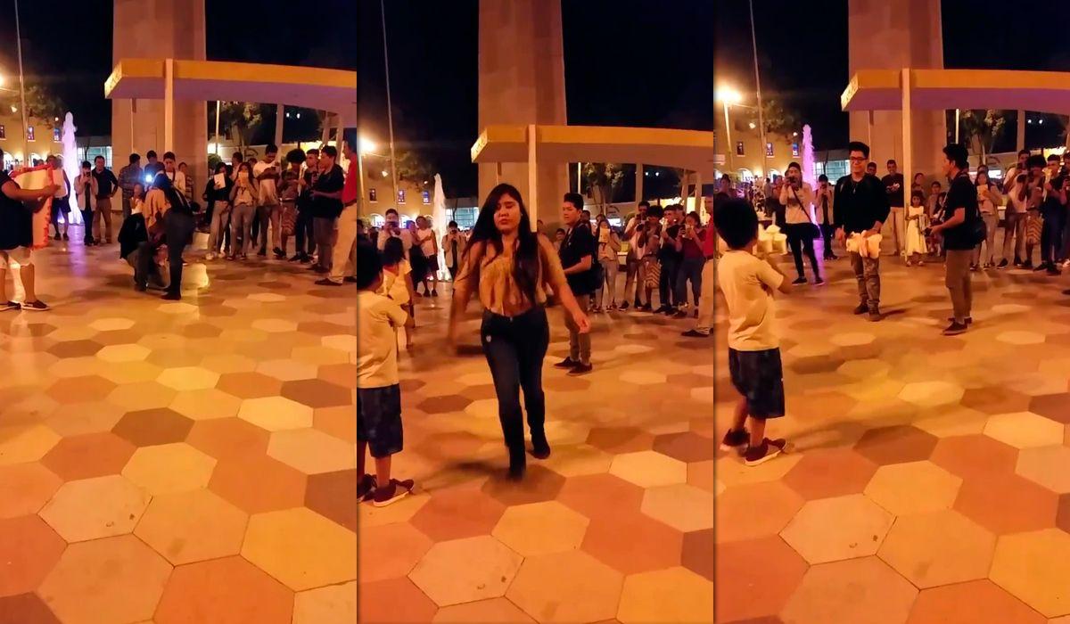 Perú: un joven se le declaró en público a una chica en San Valentín, pero lo rechazó