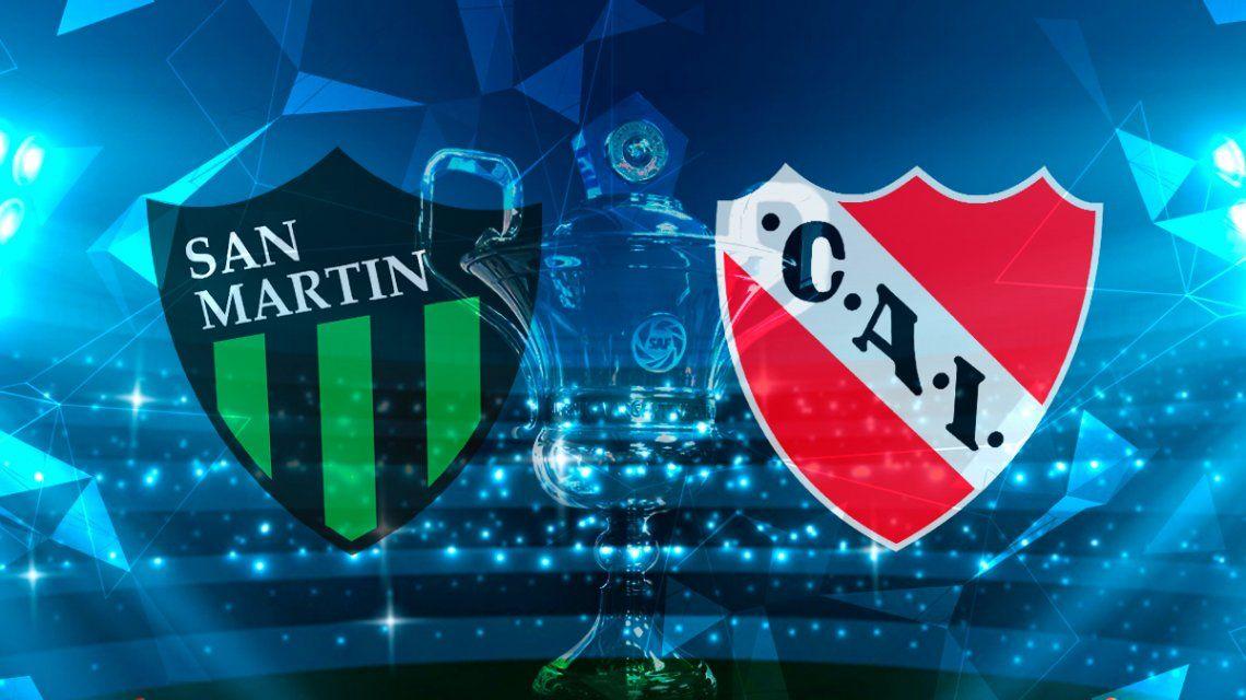 San Martín de San Juan vs Independiente por la fecha 19 de la Superliga: horario, formaciones y TV