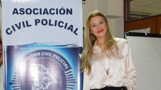 Gabriela Macías, impulsora de la Red de Mujeres Policías<br>