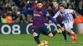 Lionel Messi marcó de penal ante el Valladolid