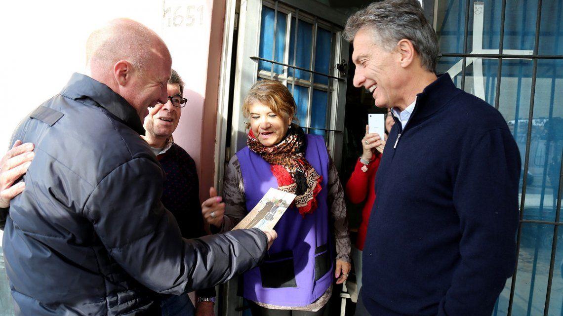 Mac Allister con Macri en un timbreo en La Pampa