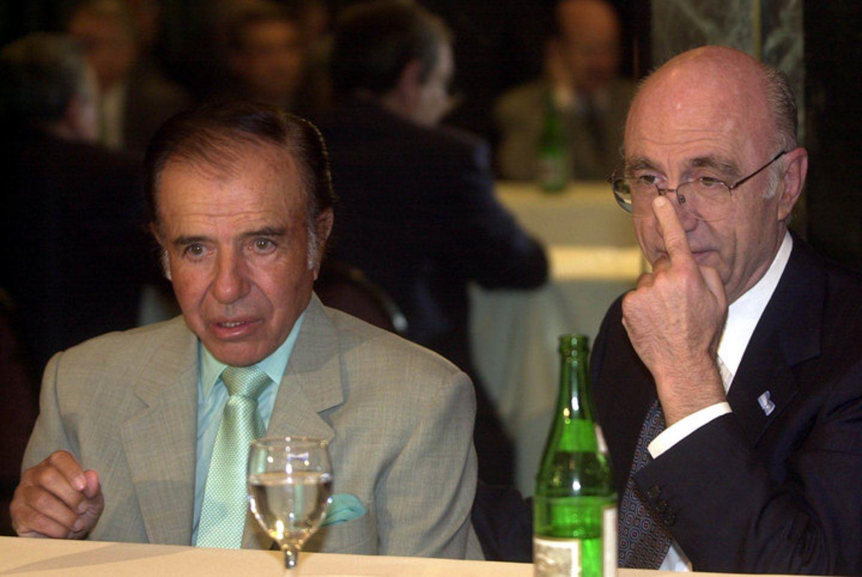 Eduardo Bauzá junto a Carlos Menem