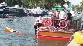 Murió la mujer atropellada mientras hacía kayak en Tigre