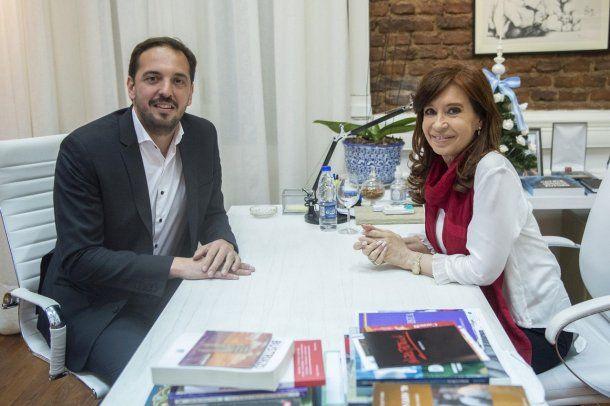 Luciano Di Nápoli fue recibido por Cristina Kirchner en el Instituto Patria<br>
