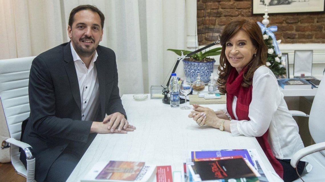 Luciano Di Nápoli fue recibido por Cristina Kirchner en el Instituto Patria
