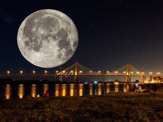 superluna de nieve: asi se la vio en la argentina