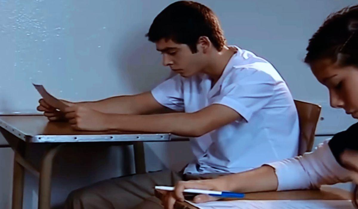 Nazareno Casero interpretó a un adolescente que se llevaba todas las materias