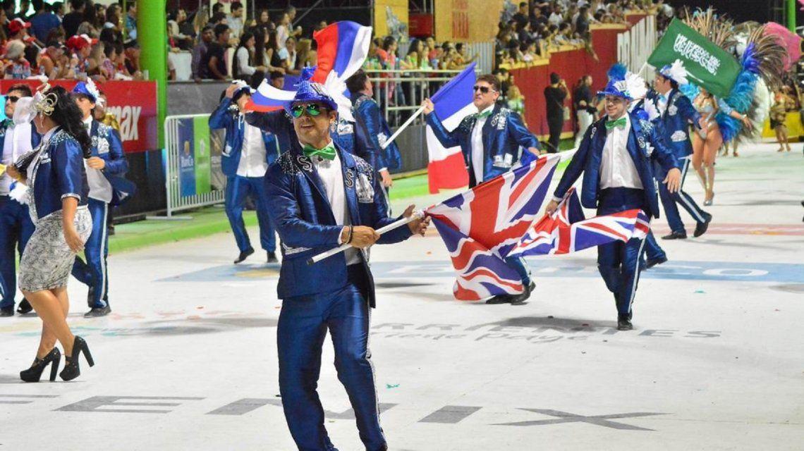 Corrientes: polémica por la exhibición de banderas británicas en el Carnaval
