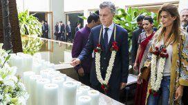 Mauricio Macri con Juliana Awada en la India