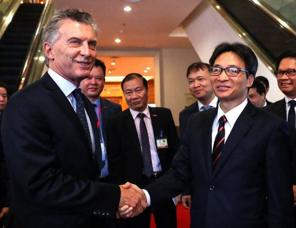 Macri, de gira por Vietnam<br>