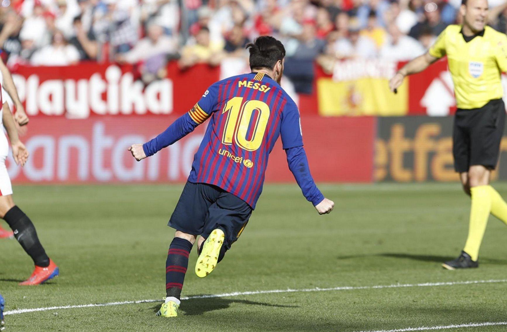 Lionel Messi fue la gran figura del triunfo de Barcelona frente a Sevilla