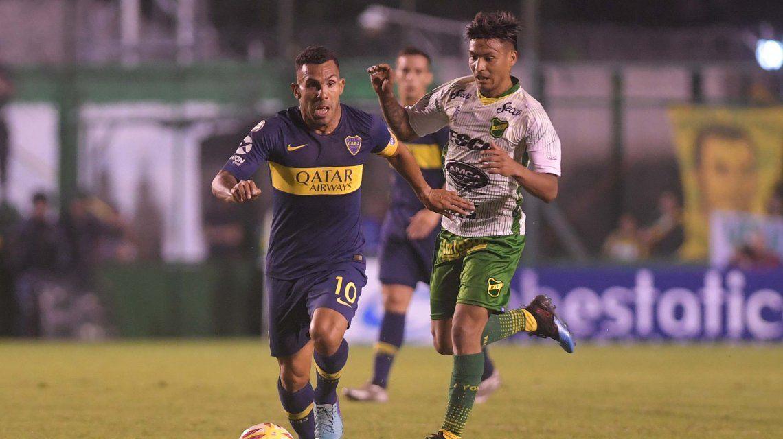 Carlos Tevez marcó el único gol del partido
