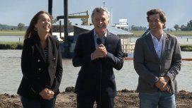 La broma del Presidente: Vidal y Macri Gato terminan las obras del arroyo El Gato