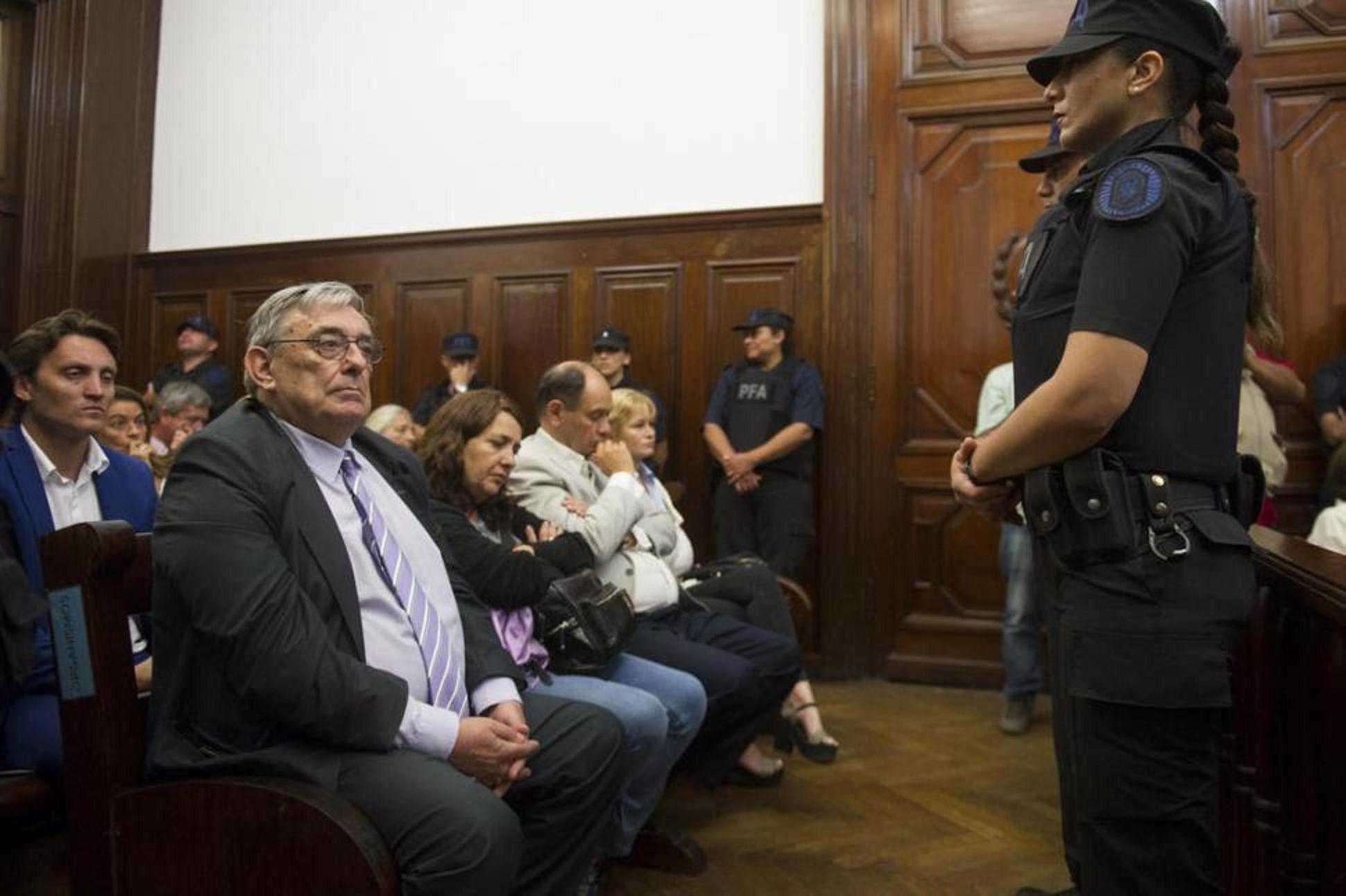Lebbos escucha la sentencia. Foto: La Gaceta de Tucumán