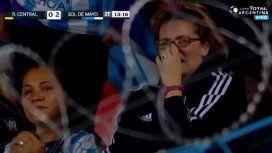 La emoción de los hinchas de Sol de Mayo luego de eliminar a Rosario Central
