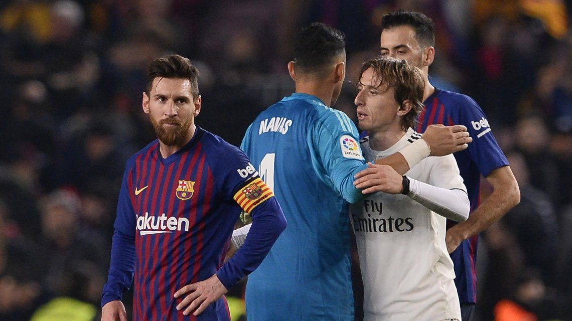 Lionel Messi y Luka Modric