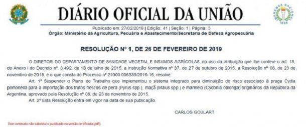 Diario oficial de Brasil<br>