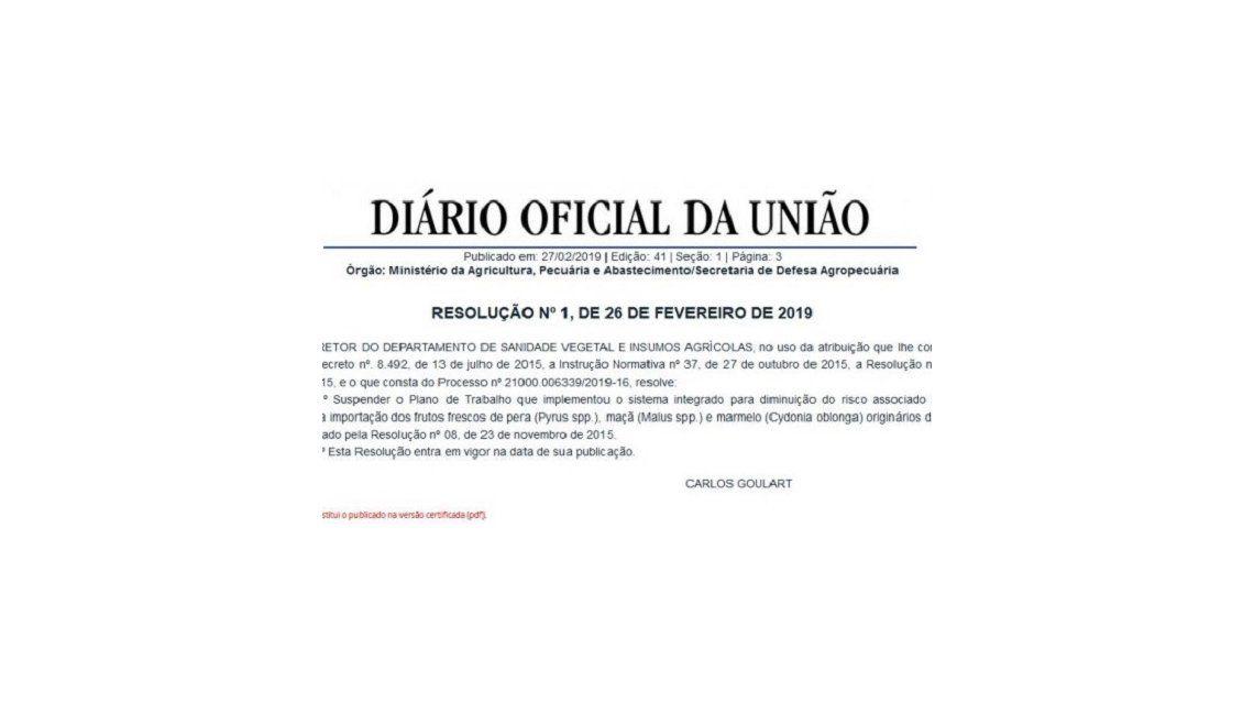 Diario oficial de Brasil