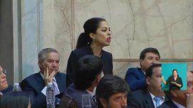 Laura Alonso acusó a La Cámpora de llevar al recinto a la diputada que interrumpió la sesión