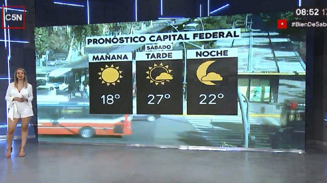Pronóstico del tiempo para el sábado 2 de marzo en la Ciudad y alrededores