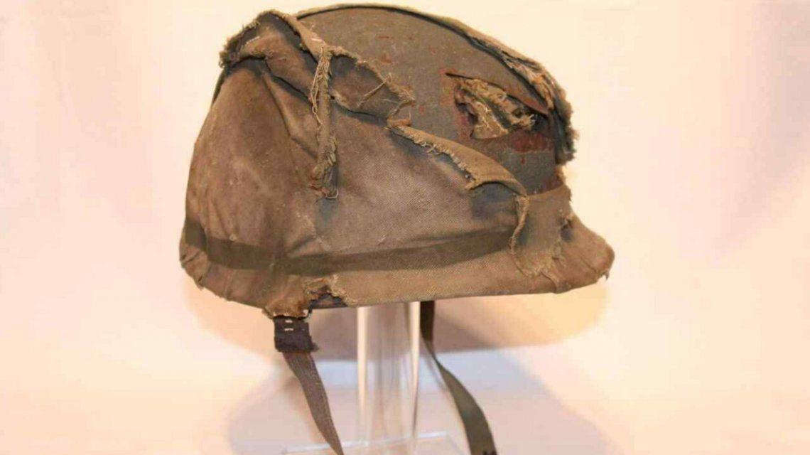 Un comprador anónimo pagó el precio por el casco del ex combatiente de Malvinas
