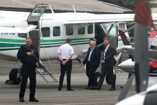 Lula Da Silva fue trasladado con fuerte custodia<br>
