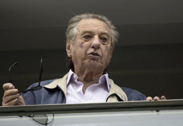 Franco Macri en el palco de La Bombonera<br>