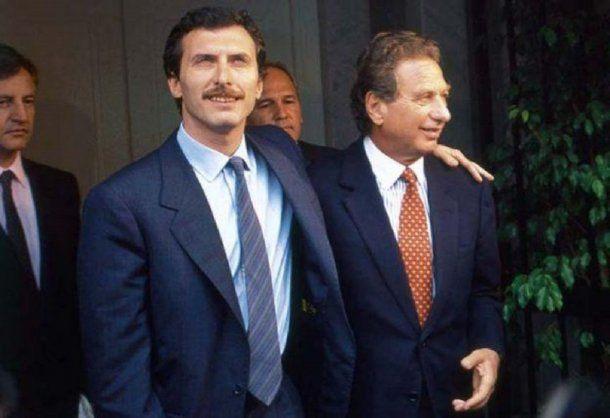 Mauricio Macri y Franco Macri<br>