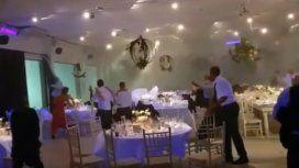 El temporal de lluvia y viento que azotó a Santa Fe arrasó con un casamiento