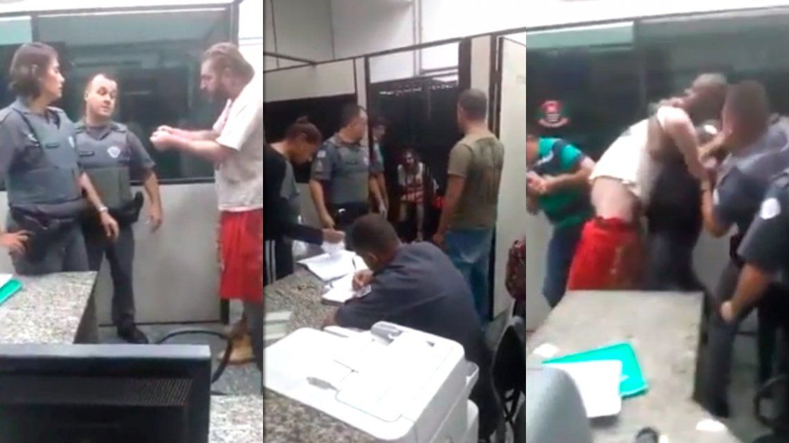 La policía de Bolsonaro le quebró el brazo a un dirigente petista por llevar una remera de Lula libre