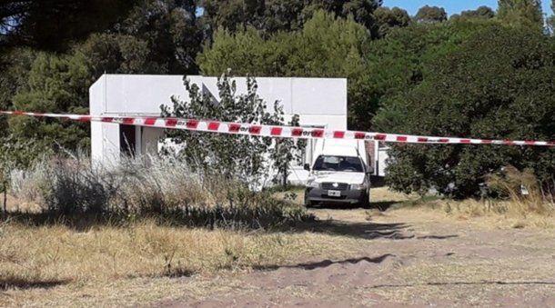 La casa donde una mujer mató a su pareja en el balneario bonaerense Monte Hermoso.