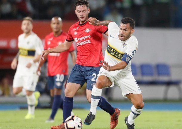 <p>Tevez fue titular y capitán (Foto: Prensa Boca)</p>