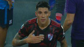 El show de Enzo Pérez: insultó a un rival y provocó a los hinchas en el empate de River