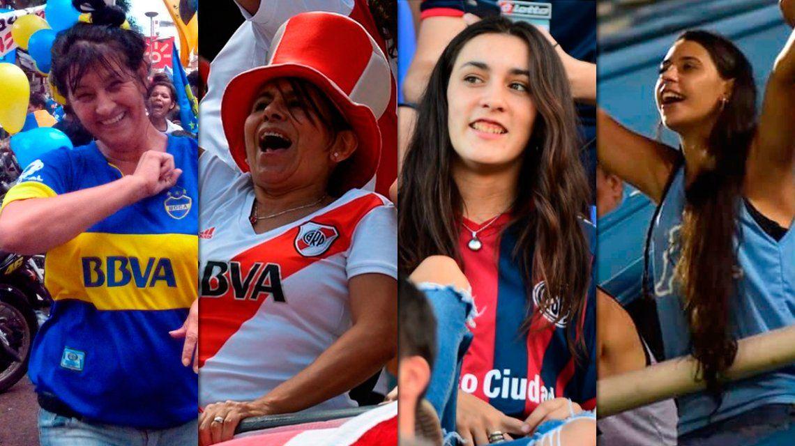 Diferentes camisetas, un mismo reclamo: la lucha femenina en el fútbol