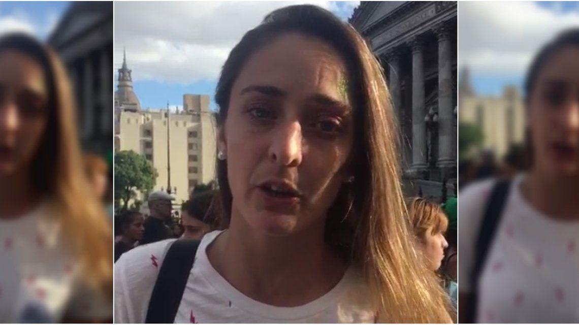 Macarena Sánchez desde la marcha: Estamos luchando para que el fútbol sea profesional