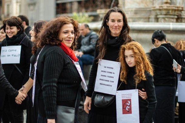 Abuelas, madres e hijas compartieron el reclamo<br>