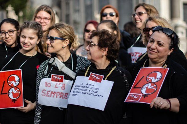 "Tras la marcha del 8M harán un ""flashmob"" mensual<br>"
