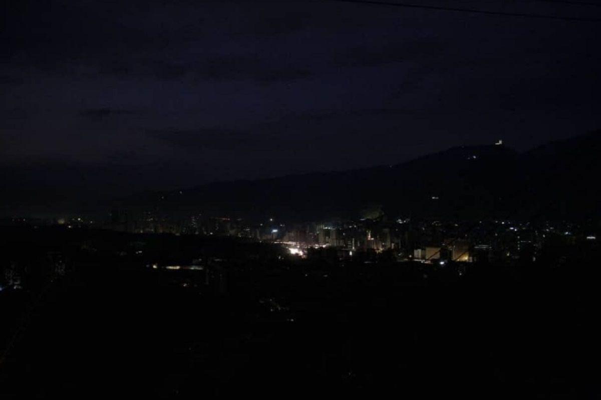 Apagón en Caracas - Crédito:@jguaido