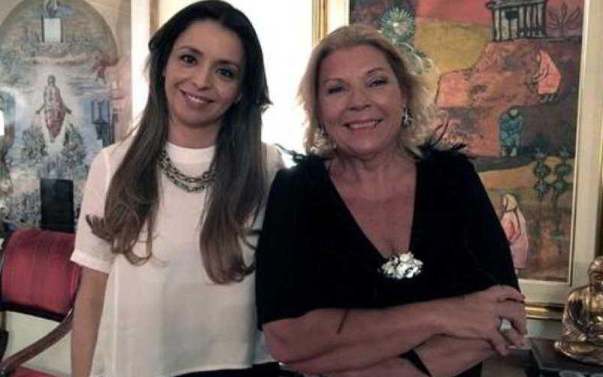 Mariana Zuvic y Elisa Carrió