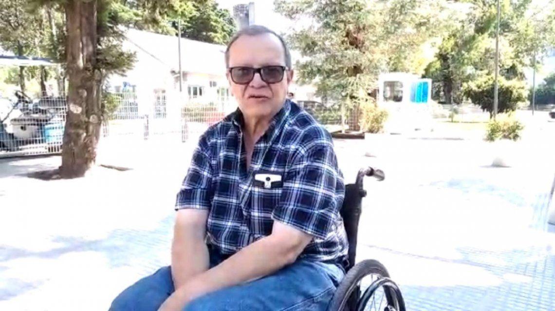 Alfredo tiene una costosa discapacidad y fue echado del INTI tras 13 años: No sé qué voy a hacer