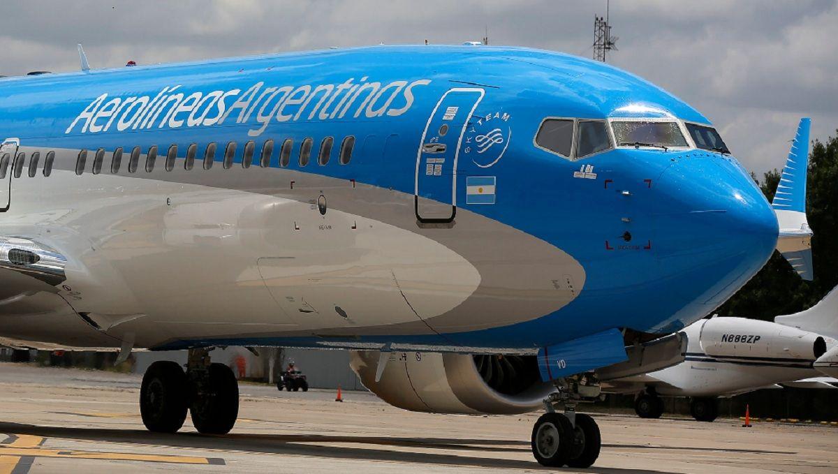 Uno de los 5 Boeing 737-8 MAX que integran la flota de Aerolíneas Argentinas