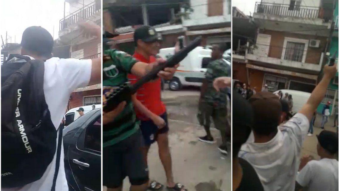 Con una ráfaga de tiros al aire, despidieron al adolescente que murió en el asalto al médico Ernesto Crescenti