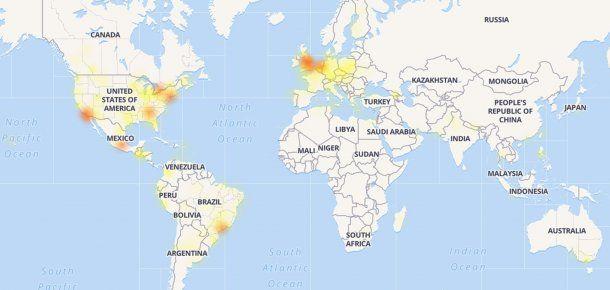 Las regiones del mundo afectadas por los problemas de conectividad de Facebook, según Downdetector<br>&#8220;/></figure>    <p>Las regiones del mundo afectadas por los problemas de conectividad de Facebook, según Downdetector</p>    <p>Los problemas para conectarse a los servicios comenzaron a registrarse pasadas las 14 hs de este viernes.</p> <div class=