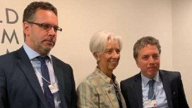 Guido Sandleris, Christine Lagarde y Nicolás Dujovne
