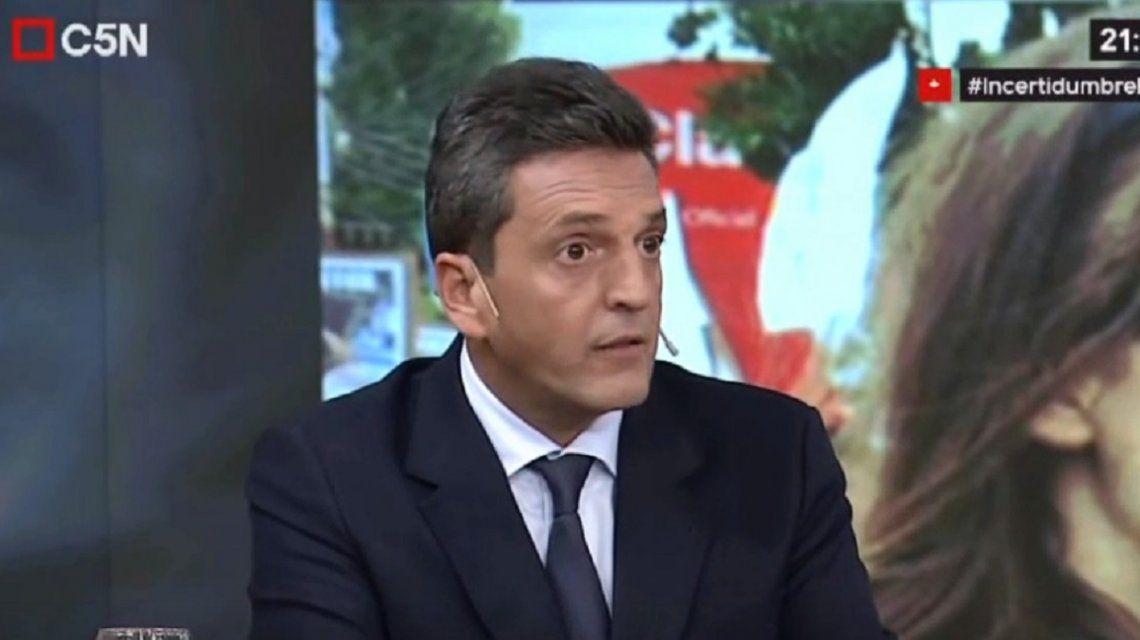 Sergio Massa, sobre la salud de Florencia Kirchner: Nuestros hijos no son responsables de nuestras opiniones