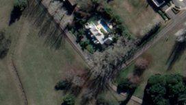 Foto aérea del casa quinta que se habría apropiado la abogada con dos cómplices