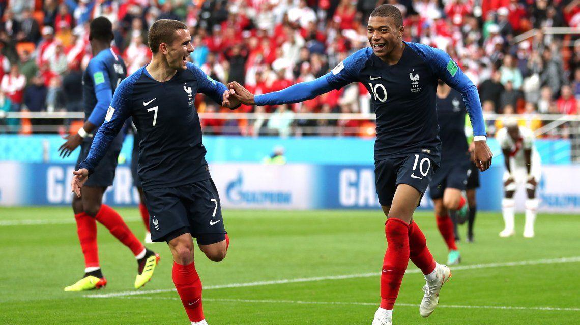 Antoine Griezmann y Kylian Mbappé