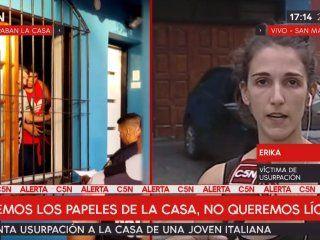 okupas entraron por la fuerza a la casa de una joven pareja, los echaron y se atrincheraron adentro